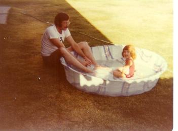 Me with my Uncle Jim, 1975